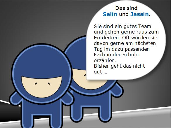 Lrrrnja Story: Selin und Jassin (Schulkontext User Story)